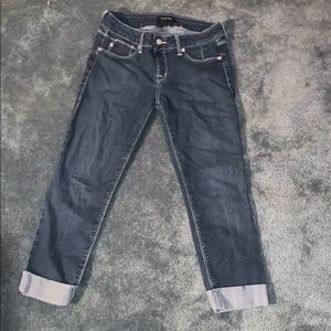 White House Black Market Cuffed Jeans EUC
